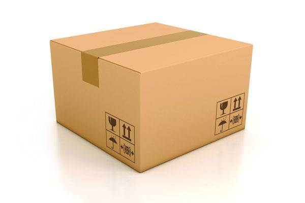 固定易碎物品的纸盒结构包装展开图