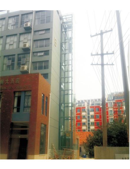 休闲专用方形观光电梯钢结构井道