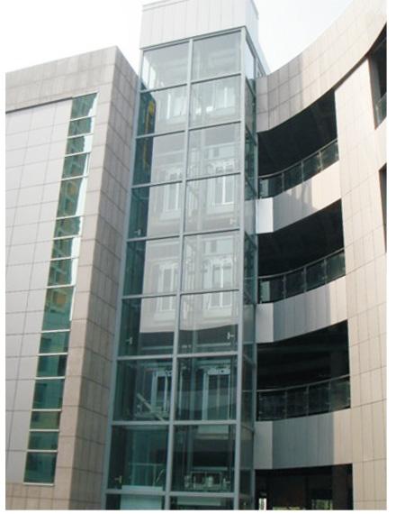 学校专用方形并联观光电梯钢结构井道
