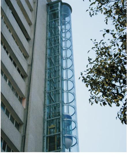 公寓别墅专用圆形观光电梯钢结构井道_金属结构框架