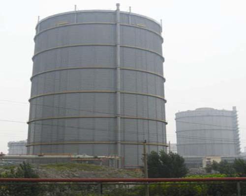 山东莱芜钢铁30万m312.5KPa多边型稀油密封高炉煤气柜