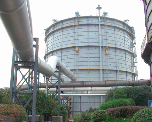 安徽马鞍山钢铁8万m3圆筒型橡胶膜密封(两段式)煤气柜