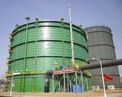 河北长治钢铁8万m3圆筒型橡胶膜密封(两段式)煤气柜