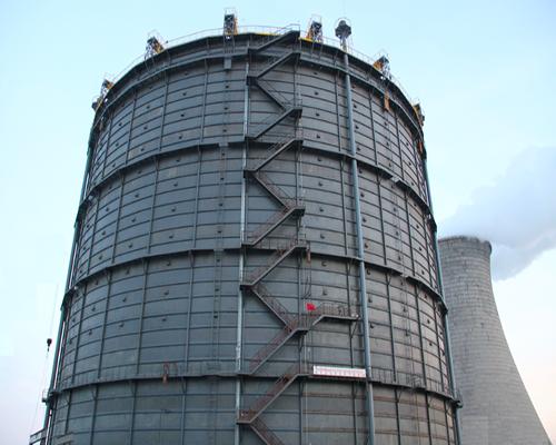 山东传阳集团10万m3圆筒型橡胶膜密封(单段式)转炉煤气柜