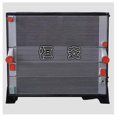 装载机散热器-横流式构造