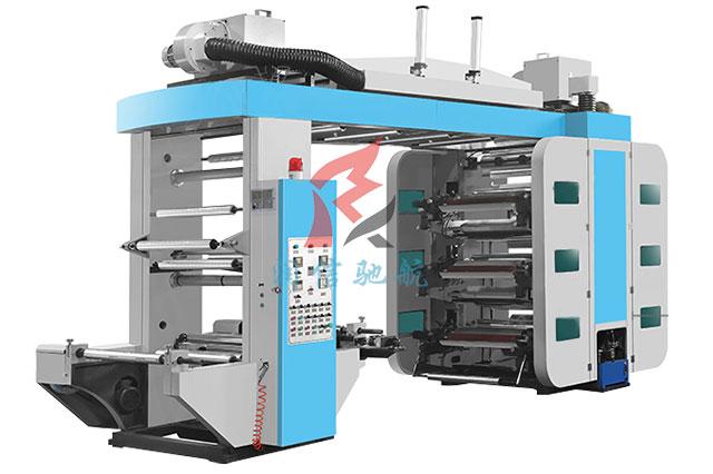 六色同步轮柔版印刷机