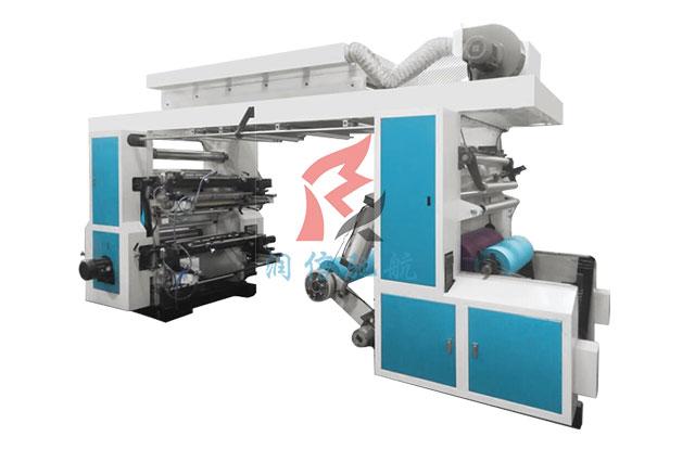 4色齿轮机纸张柔版印刷机
