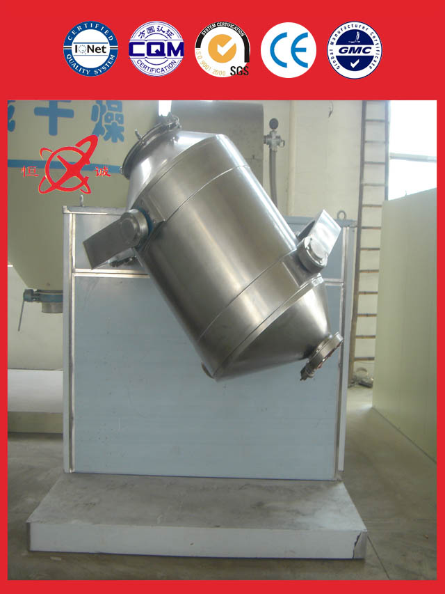 Three dimensional mixer equipment manufacture